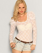 Lulu Lace L/S Long Top SEK 79, Only - NELLY.COM