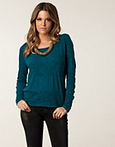 Tops , Shaki Mani Ajour Tshirt , Only - NELLY.COM