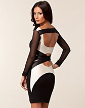 Juhlamekot , Mesh Long Sleeve Strap Dress , Quontum - NELLY.COM