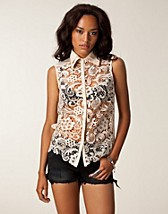 Blouses & overhemden , Julie Collar Shirt , Little Mistress - NELLY.COM