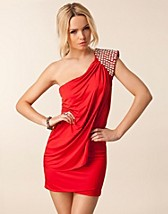Festklänningar , One Shoulder Embellished Dress , Te Amo - NELLY.COM