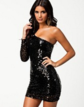 Festklnningar , One Sleeve Sequin Dress , Oneness - NELLY.COM