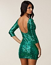 Festklnningar , Gina Sequin Sleeve Dress , Oneness - NELLY.COM