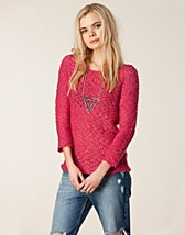 Tröjor , Tweed Wide Boatneck Knit , Vero Moda - NELLY.COM