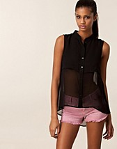 Blouses & shirts , Sleeveless Chiffon Blouse , Saint Tropez - NELLY.COM