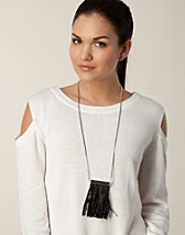 Smycken , Bissi Leather Necklace , Pieces - NELLY.COM