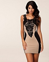 Festkjoler , Tyra Lace Detail Dress , Dark Pink - NELLY.COM