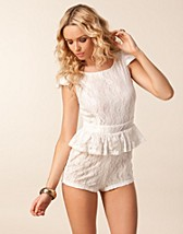 Jumpsuit , Lace Peplum Playsuit , Paprika - NELLY.COM