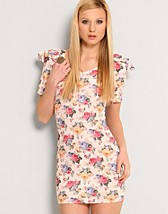 Floral Puff Shoulderdress SEK 299, LOVE - NELLY.COM