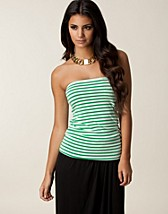 Tops , Stripe Tube Top , Vila Basic - NELLY.COM