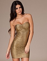 Golden Bandeau Dress SEK 199, John Zack - NELLY.COM