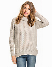 NMGOTH L/S ROLL NECK KNIT TOP