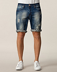 Mike Dark Blue Denim Shorts