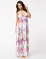 Floral Maxi Chiffon Dress