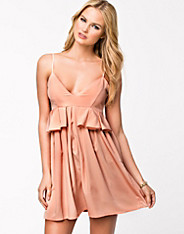Peplum Side Frill Dress