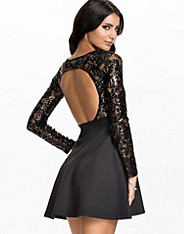Sequin Lace Skater Dress