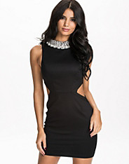 Choke Trim Cut Out Dress
