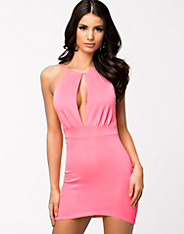 High Neck Keyhole Dress