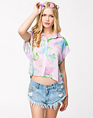 Flowers Of Paradise Crop Shirt