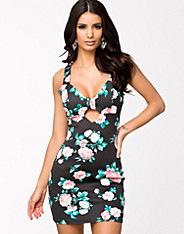 Printed Bow Bust Dress