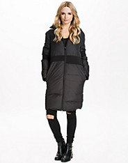 Light Nylon Plume Padded Coat mm6 maison martin margiela
