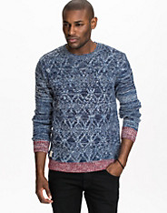 Contrast Cable Knit