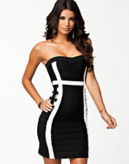 Buckle Bandage Bandeau Dress