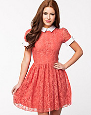 Lace S/S Collar And Cuff Dress