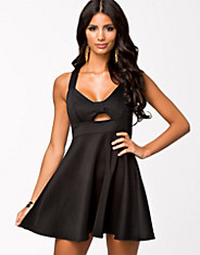 Bow Plain Skater Dress