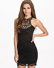 Jewel Trim Lace Bodycon Dress