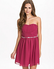 Chiffon Waist Trim Dress