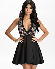 Halter Neck Skater Dress