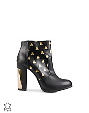 Gold Bees Leather Boot
