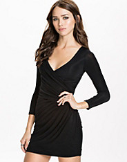 Lurex Wrap Front Bodycon Dress