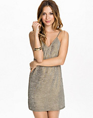 Shimmer V Neck Slip Dress
