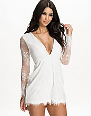 Long Sleeve Lace Playsuit nly one