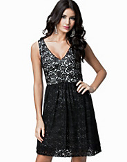 Glazed Lace Sleeveless Dress