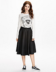 Fit PU Flared Skirt