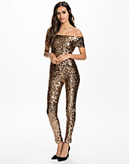 Cosmic Sparkle Slashneck Midi Dress