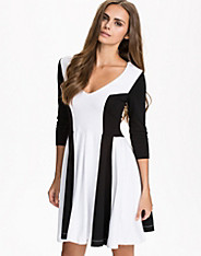 Abney V-Neck Flare Dress
