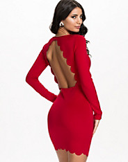 Scallop Back Bodycon