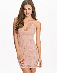 V Strap Sequin Dress