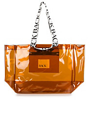 logo Tote Clear Plastic
