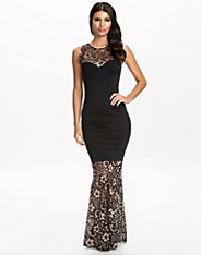 Lace Bandage Maxi Dress