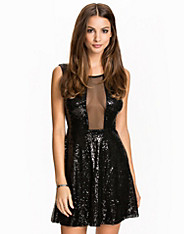 Skater Sequin Mesh Dress