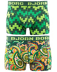 2-Pack 8-Bit Paisley & Pulse Short Shorts