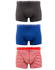 3-Pack Basic Stripe Short Shorts