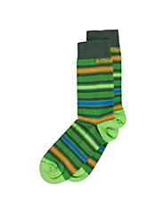 Electronic Striped Ankle Sock