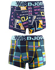 2-Pack High Score & Pixel Check Short Shorts