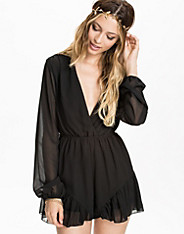 Sheer Sleeve Playsuit